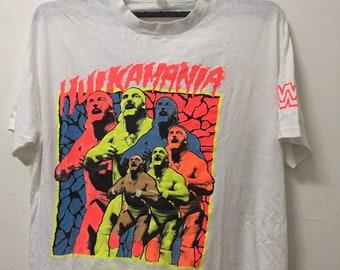 fbdf5368 90s hulk hogan vintage shirt | Etsy