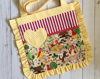 Red Riding Hood Ruffle Tote