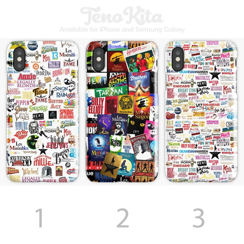 428323e53095b Broadway Musicals Collage, High School Musical Logos Phone Case for iPhone  6/7/8/X/XR/XS Max Case & Samsung Galaxy S6/7/8/9/10 Plus Case