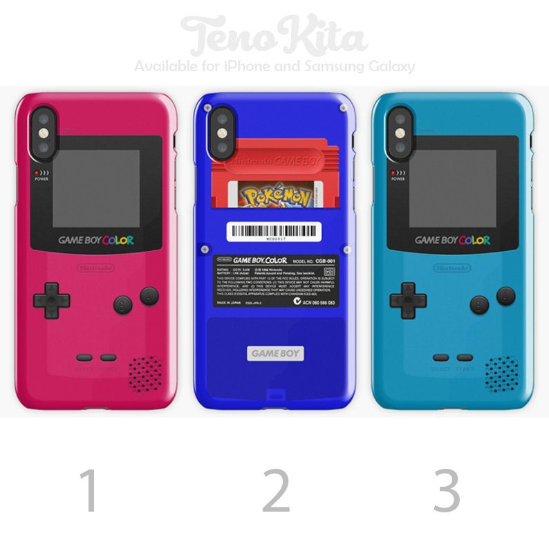 wholesale dealer 37848 ee49a Pink Blue Nintendo GameBoy Color Back Red Cartridge, Gameboy Case, Game Boy  Phone Case for iPhone Case & Samsung Galaxy Case