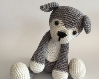 Crochet husky, Amigurumi husky, Crochet animal, Crochet toy, Husky, Dog, Stuffed animal, Stuffed toy,