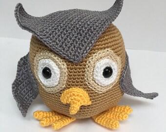 Crochet owl, Amigurumi owl, Crochet animal, Crochet toy, Owl, Stuffed toy, Stuffed animal, Crochet amigurumi