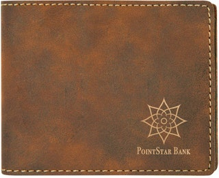 RusticGold Laserable Leatherette Bifold Wallet