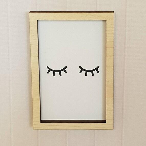 mdf wooden star 9cm sleepy eyes shape craft