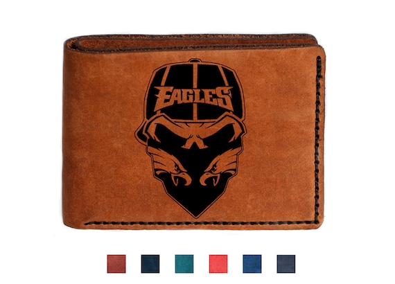 buy popular 9e676 2e23f Eagles Footbal Philadelphia Eagles American Football Wallet Leather Eagles  Gifts Personalized Wallet Fathers Day Gift Leather Wallet For Men