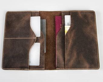 Personalized leather passport wallet,passport wallet,leather wallet,handmade passport wallet,mens passport wallet,leather bifold wallet
