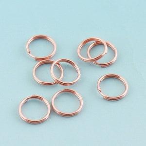 Silver Star Key Ring 10pcs *35mm Large Key Fob Ring Metal Split Ring for Key Chain Wholesale Key Ring Findings