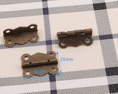 Antique Bronze Hinges Cabinet Hinges Box Hinges Mini Hinges Decorative Hinges Wood box Hinges Box hardware 8 pcs