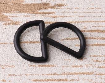 Black Plastic D Rings Buckle Webbing Belt Loup Blinds Tie Backs Bag Straps Craft