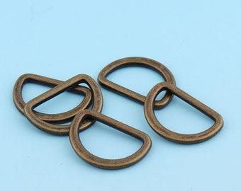 Antique Bronze D Ring 4pcs 25mm Alloy D Buckle Belt Strap Buckle Webbing D Ring Handbag Accessories Leather Craft Hardware