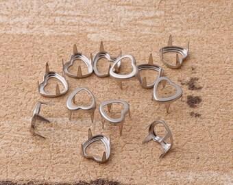 Metal Nailheads Studs 5mm*200sets golden Nailhead Decorative Upholstery Tacks Nails Flat Nailheads Studs Purse Accessories