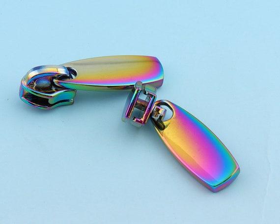 20Pcs #5 Size Zipper Sliders Head DIY Functional Accessories Alloy Material Zipper Sliders Sewing Clothes Bags Wallet Black