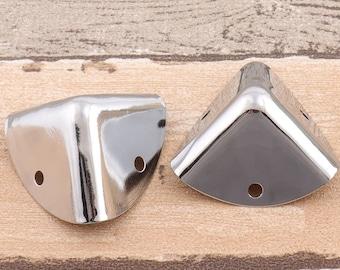 "Silver Corner Protector -6pcs 1 3/8""Decorative Bag Corner Protector Metal Corner Protector Tips Decorative Corner Bracket"