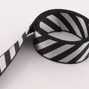 Ultra-thin Webbing Stripes Straps Webbing 5YARDS 38mm Light Weight Leash Webbing Key Fobs Strap Fabric forTotes Backpacks,Bag