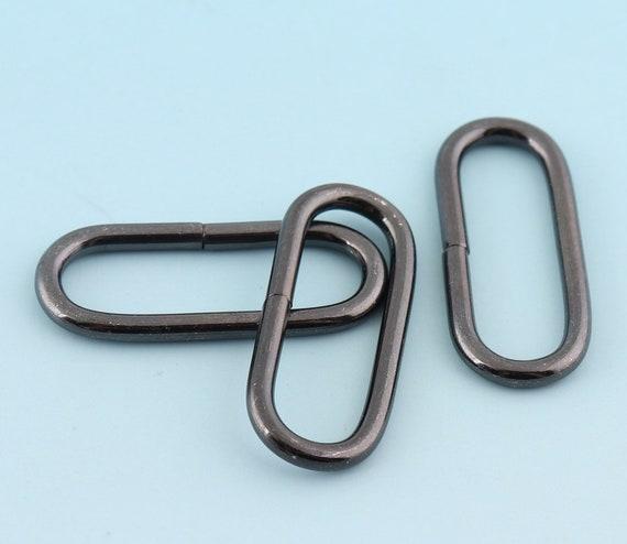 Vente une performance supérieure 50-70% de réduction Canon de fusil anneaux ovales 28mm ceinture boucle sac à main bague  bracelet Rectangle anneau sangle anneau sac à main cuir artisanat matériel  8 ...