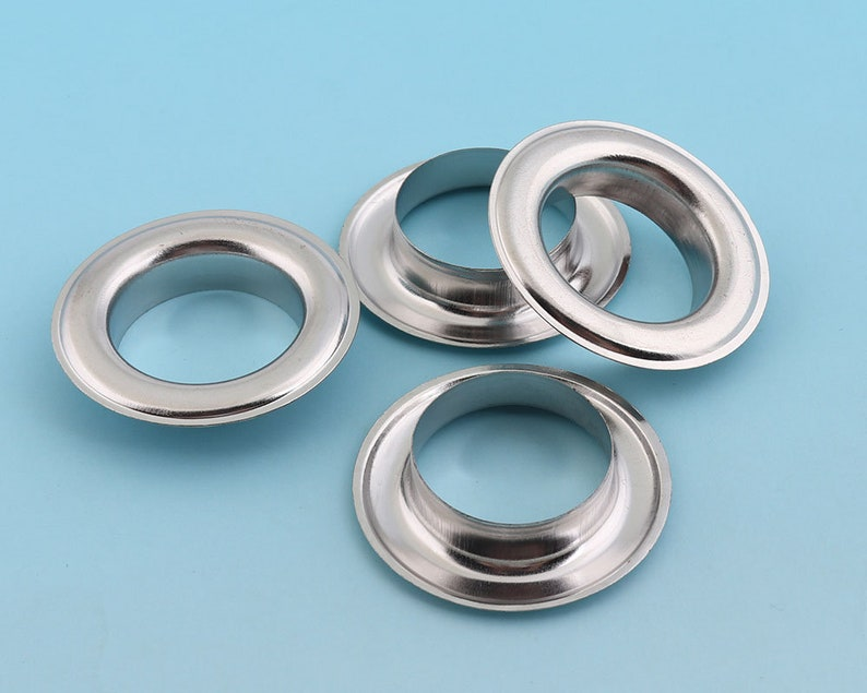 1 38 Large Eyelet Round Grommet Eyelets Silver Eyelet for Sewing Bead Cores Clothes Leather Hardware Craft Canvas Making 20pieces