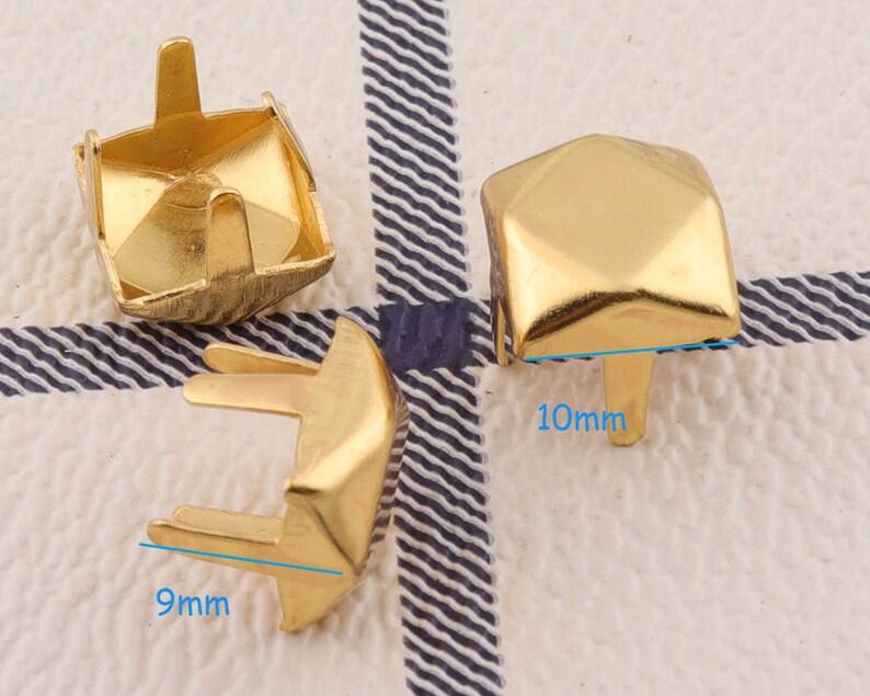 Golden Nailheads Studs 10mm*100sets Metal Nailhead Decorative Upholstery Tacks Nails Flat Nailheads Studs Purse Notion