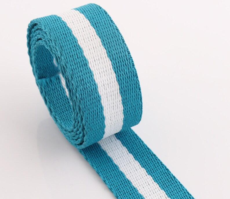 Cotton Webbing 5 yards*25mm Canvas Webbing Solid color Webbing Fabric belt Strap Key Fobs Strap Webbing Bag strap