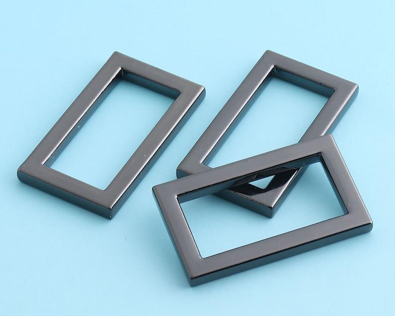 25mm Mini Gunmetal  Rectangle Rings Alloy Rectangle Ring Belt Buckle Strap Buckle Webbing Strap Ring Handbag Accessories 6pcs 1