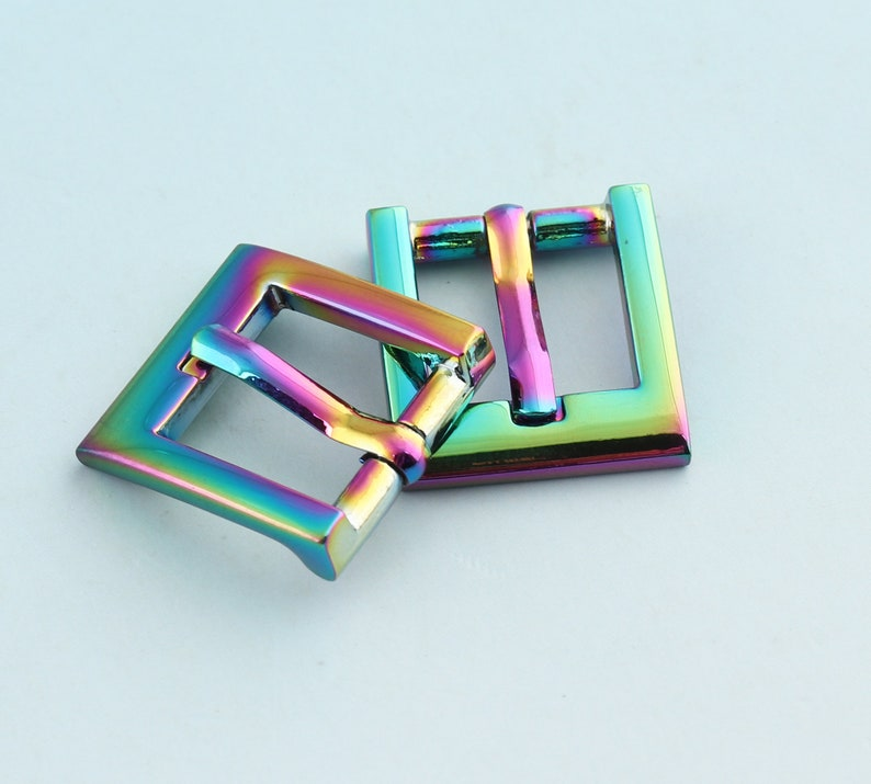 Mini Belt Buckle  6pcs 12mm Rainbow Adjuster Buckle Tri Bar Buckles Strap Buckle Adjuster Slider Handbag Handware Shoe Buckles