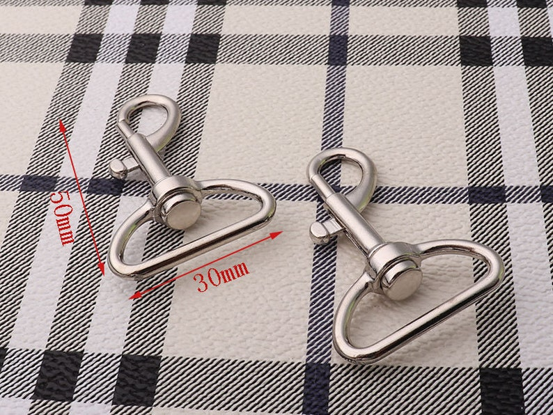 Swivel Clasp 4pcs Silver Snap Hook Metal Lanyard Hook  Leatherware Accessories Webbing Connector