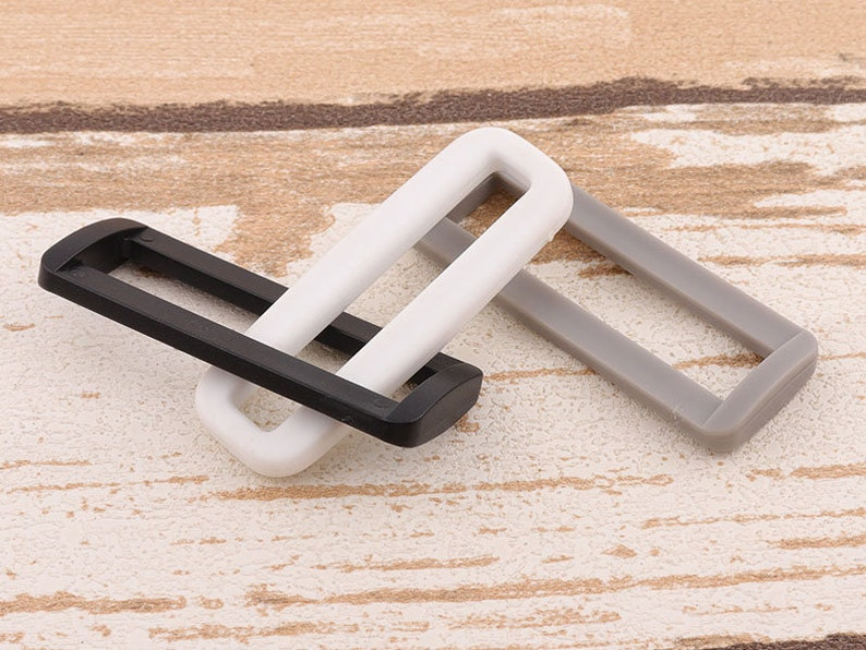 2inch Belt Buckle Strap Rectangle Ring Webbing Ring Bag Buckle Leather Craft 15pcs Rectangle Rings Plastic Purse Ring 50mm