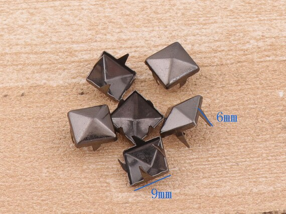 9mm Purse Feet Spots Round Spots Metal Cone Spots Nailheads Studs 20pcs-for Bag Belt Leather Craft Hardware Accessories