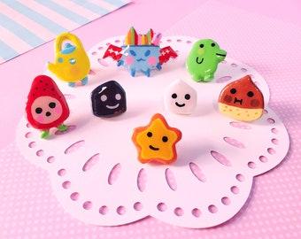 Tamagotchi Handmade Clay Pins