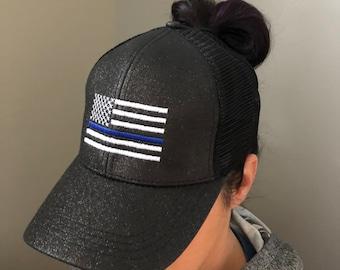 4ec161b14ed Police USA C.C. Ponytail Hat