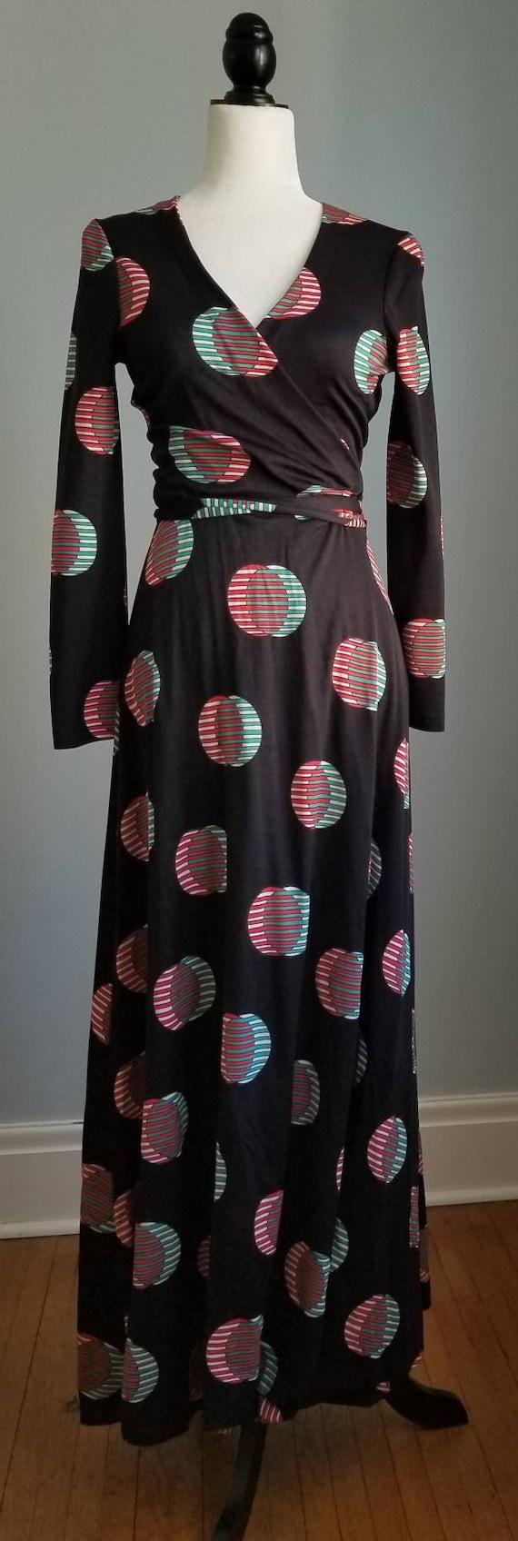 Wrap Dress, Vintage DVF, DVF Wrap Dress, 70's Maxi