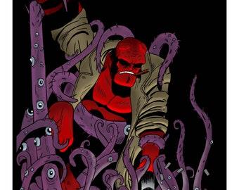 Hellboy A3 Print