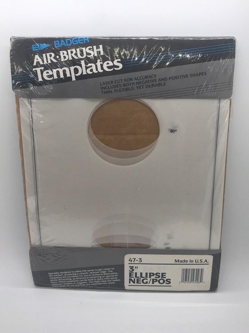 Badger Air Brush Template Set Ellipse Templates