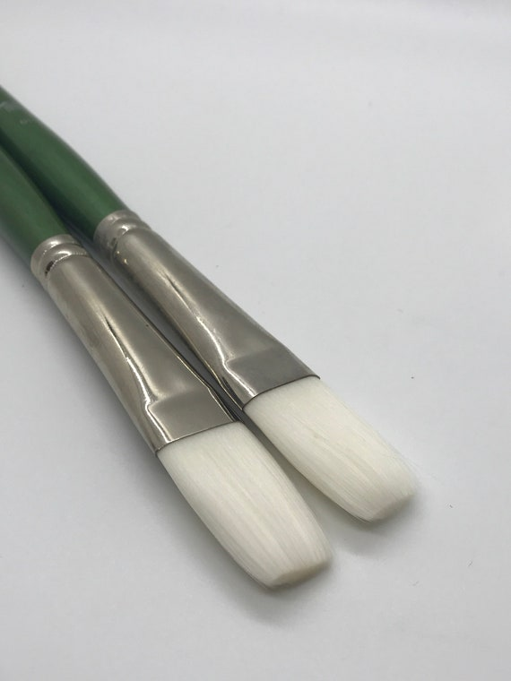 Princeton Artist Brush Summit Size 12 Brushes for Acrylic and Oil Series 6100 Bright White Synthetic