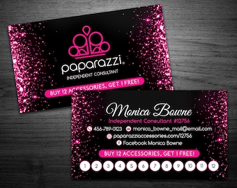 Paparazzi business cards etsy reheart Images