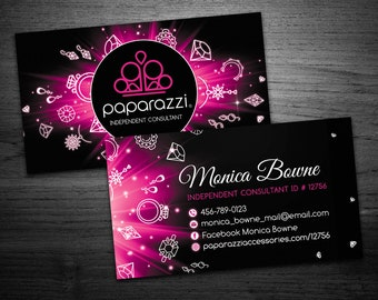 paparazzi business cards paparazzi jewelry marketing paparazzi accessories business digital card download paparazzi business card 07 - Paparazzi Business Card Template