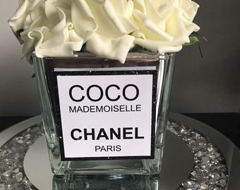 69686259a772 Coco mademoiselle Chanel inspired vase