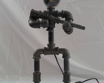 Soldier industrial steel pipe lamp