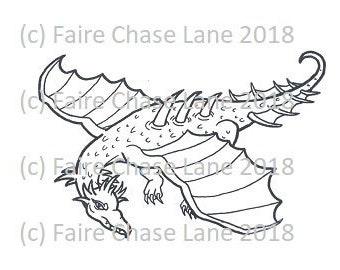 Dragon in Flight Stamp