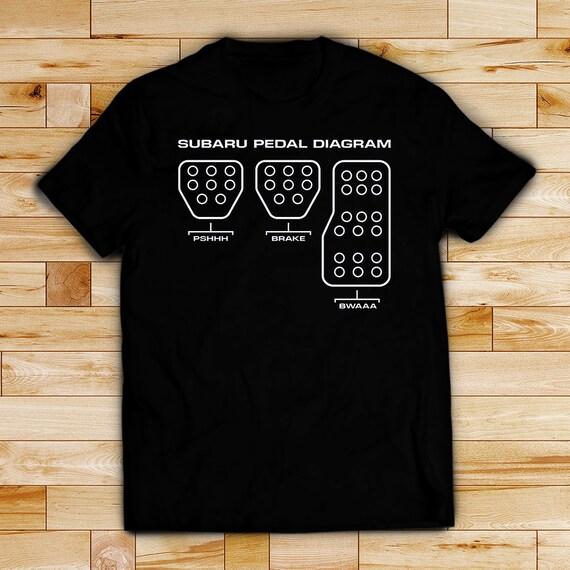 Subaru Shirt Subaru T Shirt Pedal Diagram T Shirt Unisex Etsy