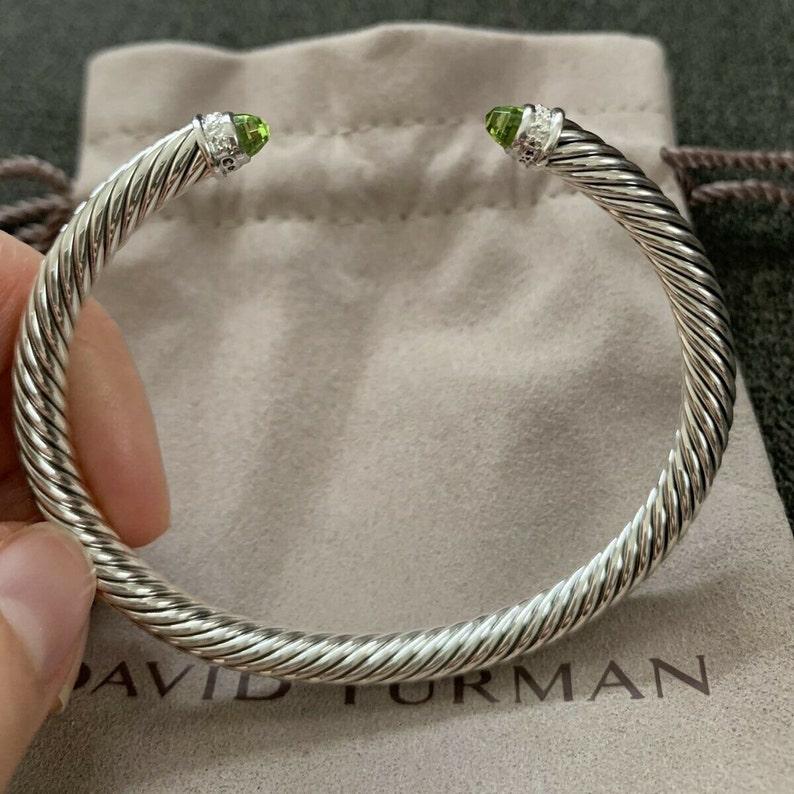 d06b5edf0a1e44 David Yurman Cable Classics Bracelet with Prasiolite and   Etsy