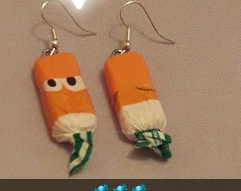 Earrings candy caramel