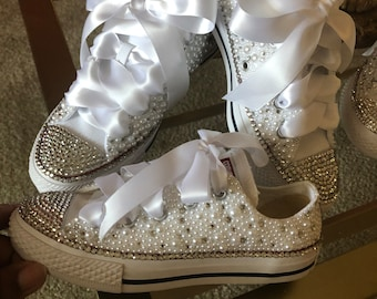 e01194fb2f2af4 ... order custom bridal converse wedding shoes swarovski crystal wedding  shoes rhinestone converse bride shoes swarovski converse