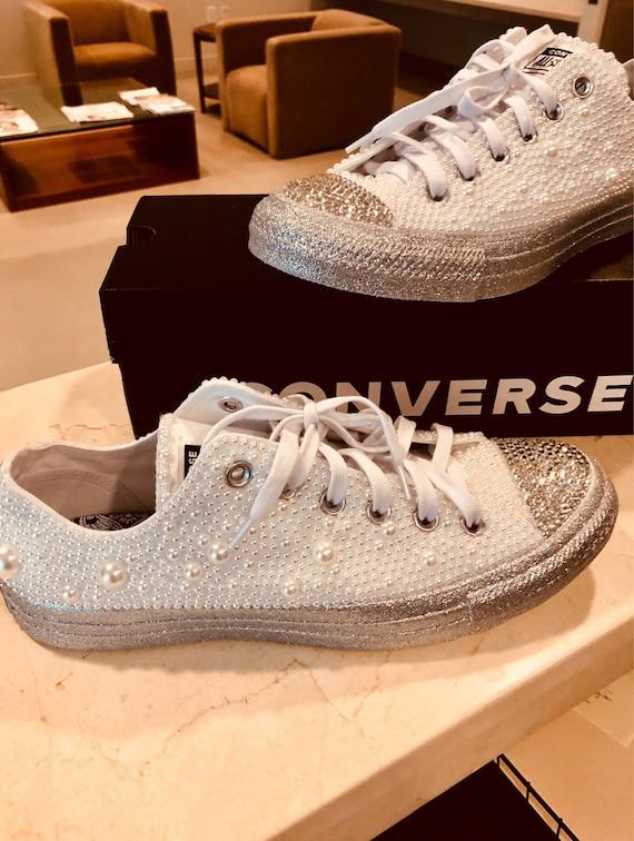 Custom converse (all stars) | Schuhe und Perlen