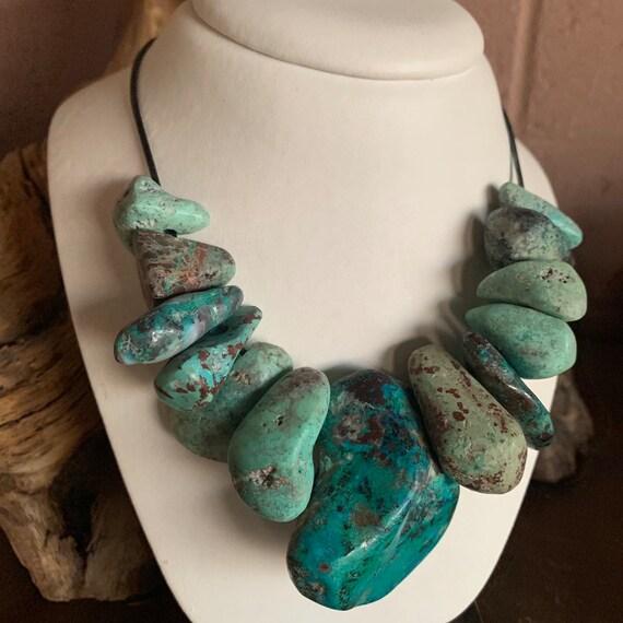 Chalcopyrite Tenorite and Quartz Azurite Cuprite Bornite Malachite Chunky Necklace Hohokam 11 Energy Stone Copal Dioptase Epidote