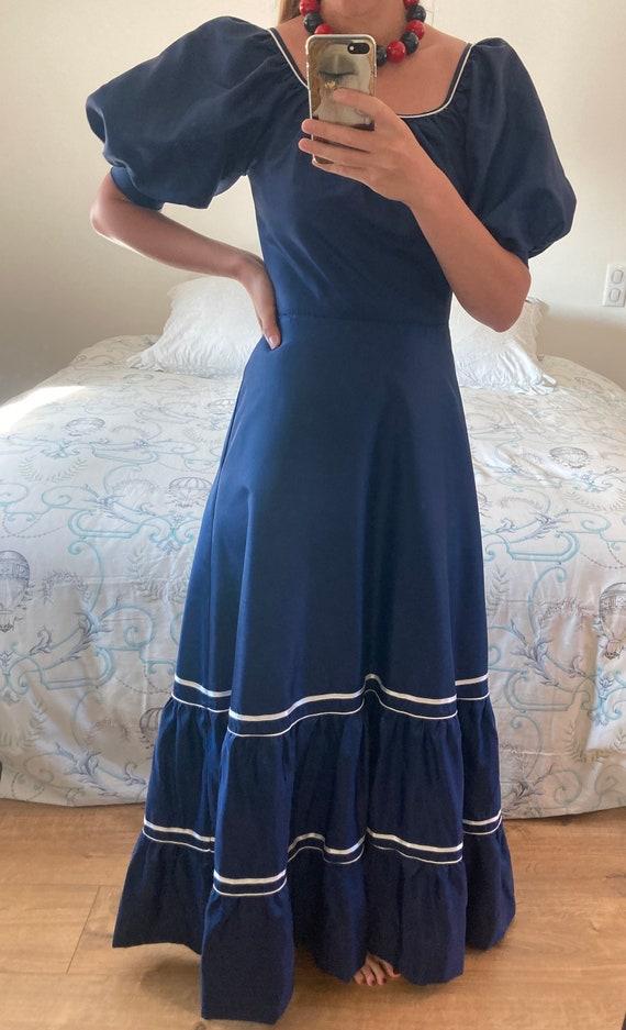 Vintage long dress 1980s - image 3