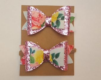 Sparkle Blossom- hair bow- baby- toddler- girls