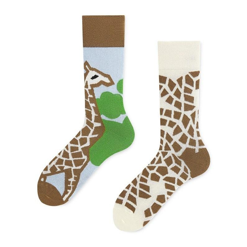 womens socks Crazy Giraffe Socks crazy sock colorful socks mismatched socks patterned socks men socks polish socks