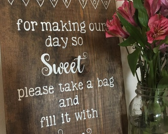 Sweet Treat Party Favor Sign