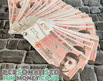 Personalised 5th Birthday Novelty Banknotes Party Bag Fillers