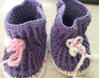 Hand Knitted Shoes Etsy